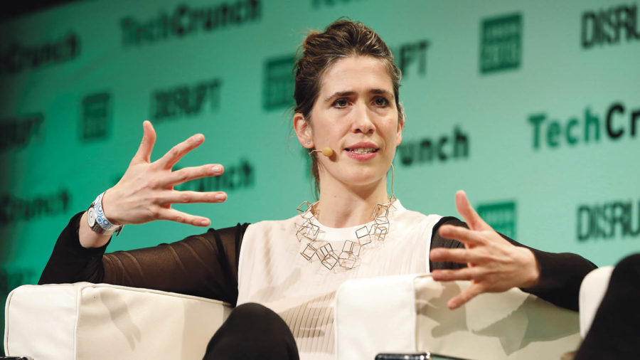 Imogen Heap speaking at TechCrunch