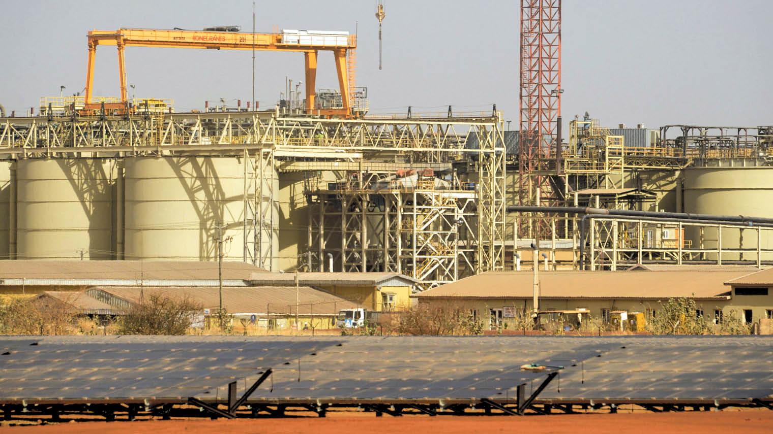Solar power plant supplying power to IAMGOLD's Essakane gold mine near Dori, Bukina Faso operations