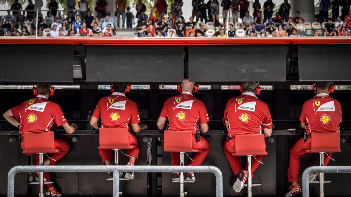 Ferrari F1 crew