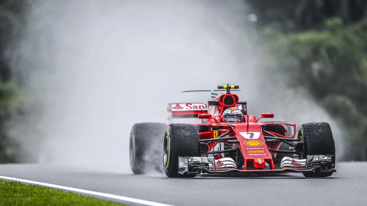 Ferrari F1 smoke