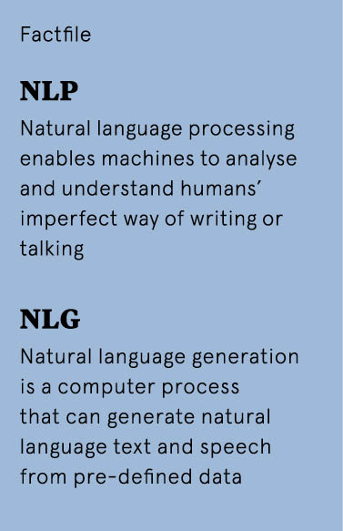NLG - the AI technology that gives machines a voice