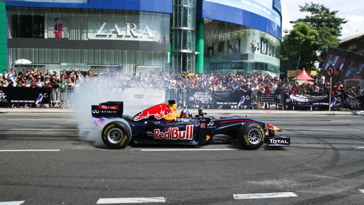 Red Bull formula 1 racing in Kuala Lumpur