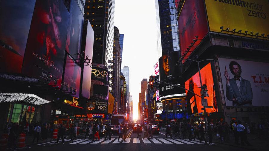 Advertising billboards in new york city