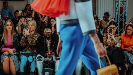 influencers at fashion show, runway