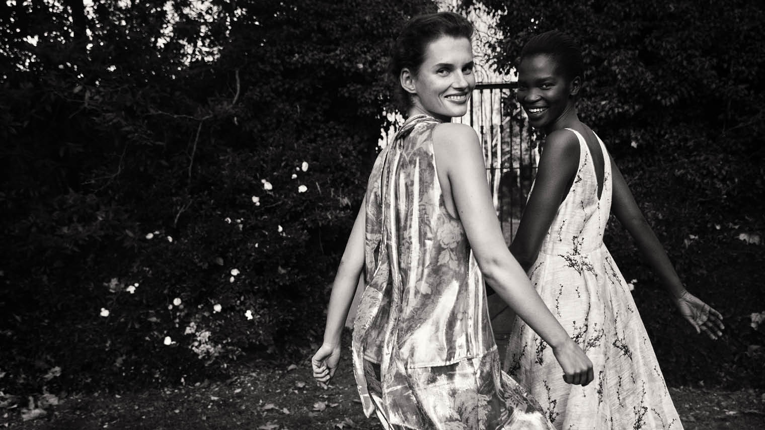 fashion models black and white