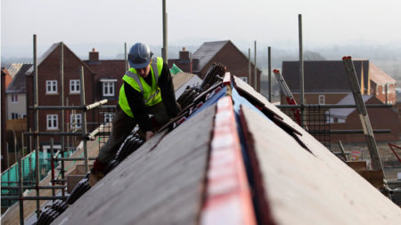 builder working on roof sustaibility
