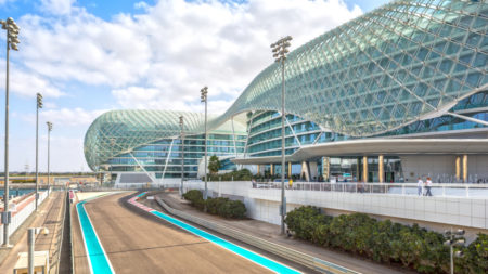 The Yas Marina Grand Prix Circuit in Abu Dhabi, UAE