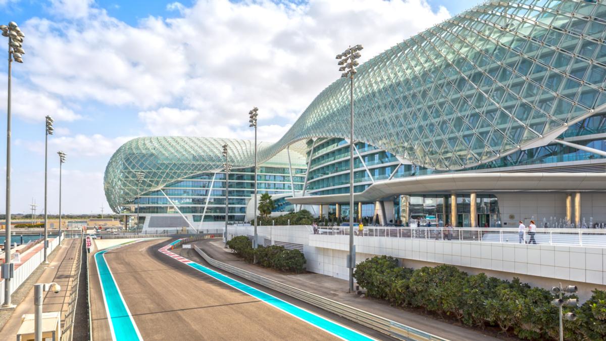 The Yas Marina Grand Prix Circuit in Abu Dhabi, UAE