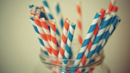 sustainable stripey paper straws
