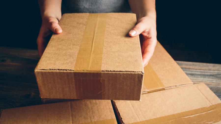packaging design brown cardboard box
