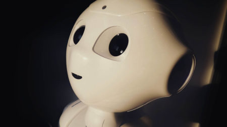 Face of Pepper the AI robot