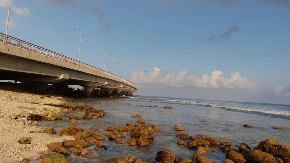 belt and road project the china-maldives friendship bridge