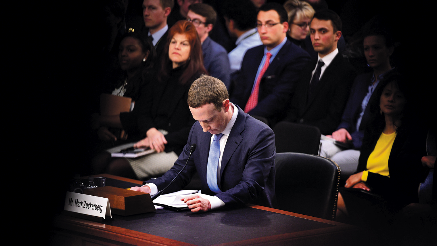 Mark Zuckerberg testifying in court after data scandal