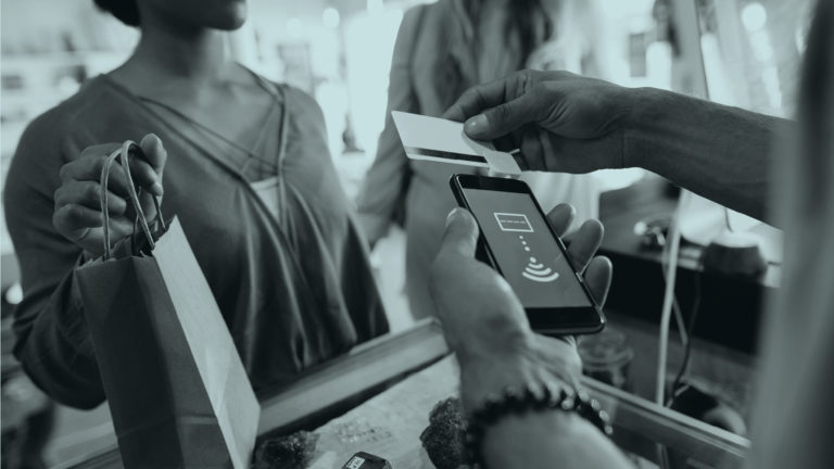 scanning card with phone for ethical shopping