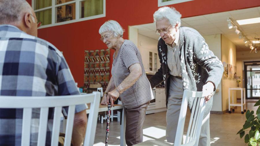 older couple living together