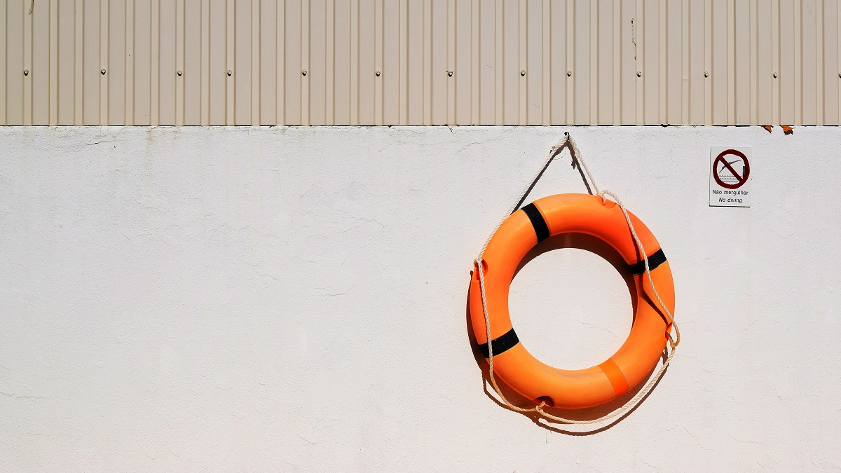 Life buoy representing supporting employees with mental health problems
