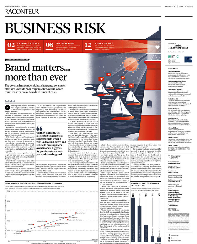 Business risk cover