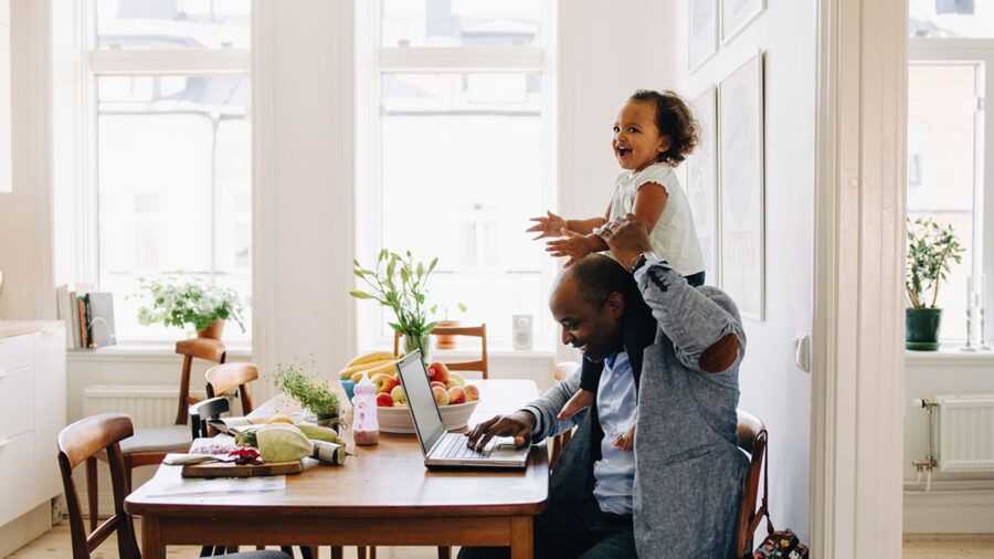 Parents working from home