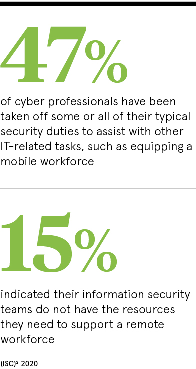 47% cyber professionals
