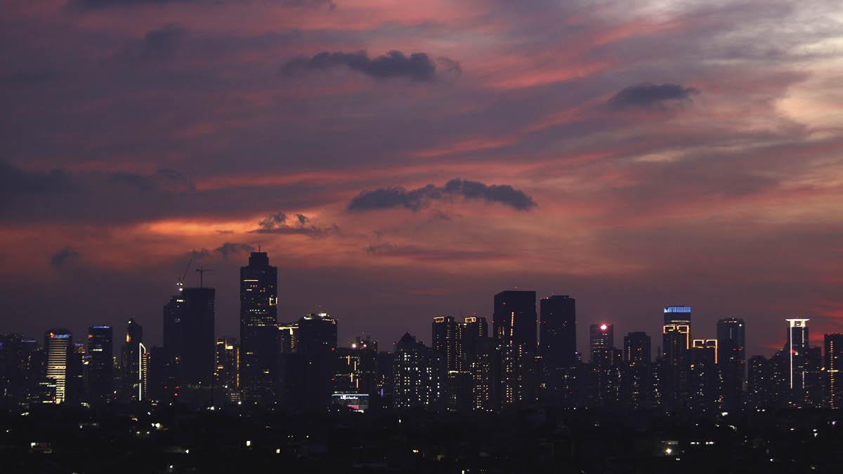 Jakarta skyline in April 2020
