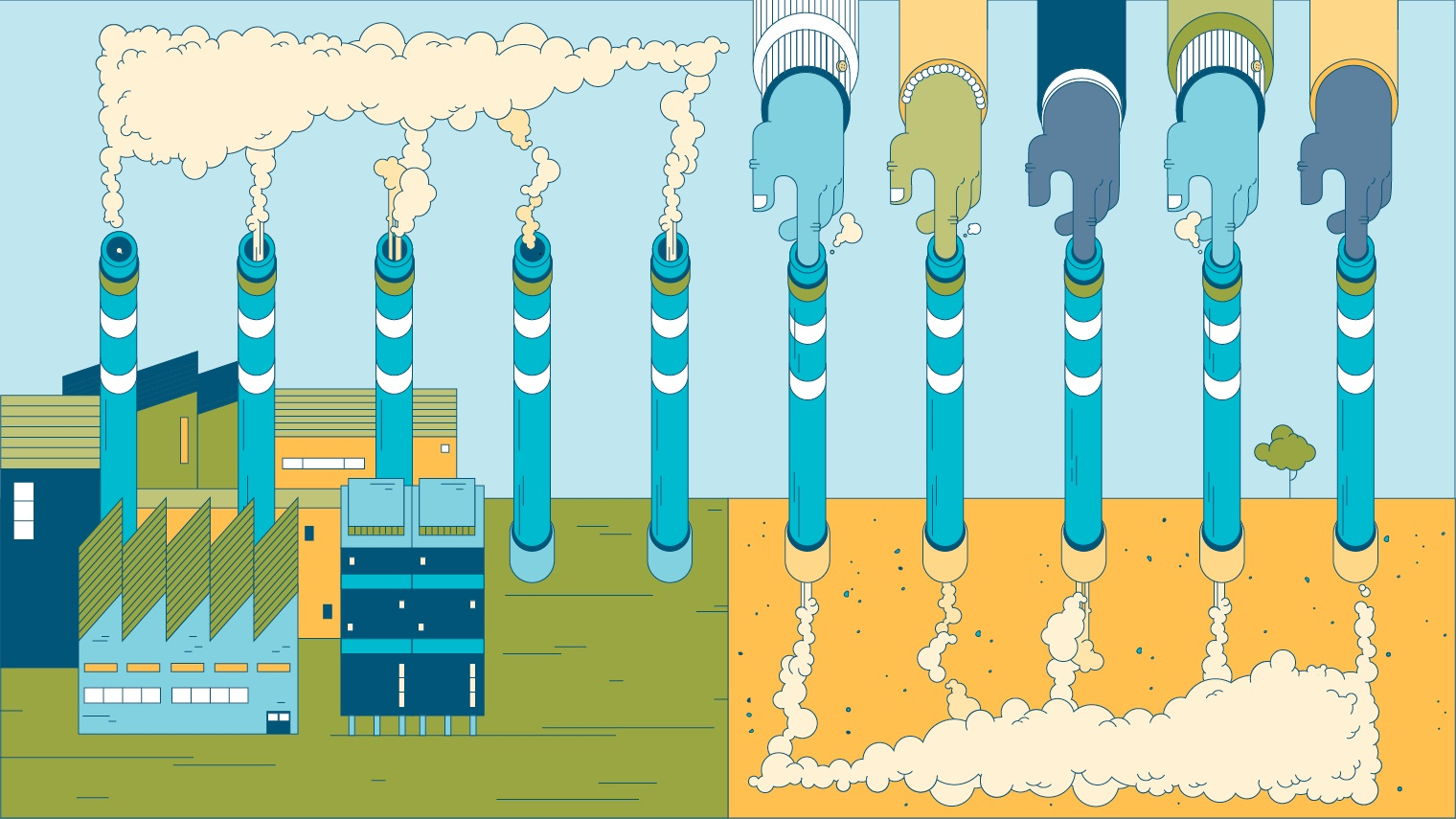 illustration of carbon capture and storage
