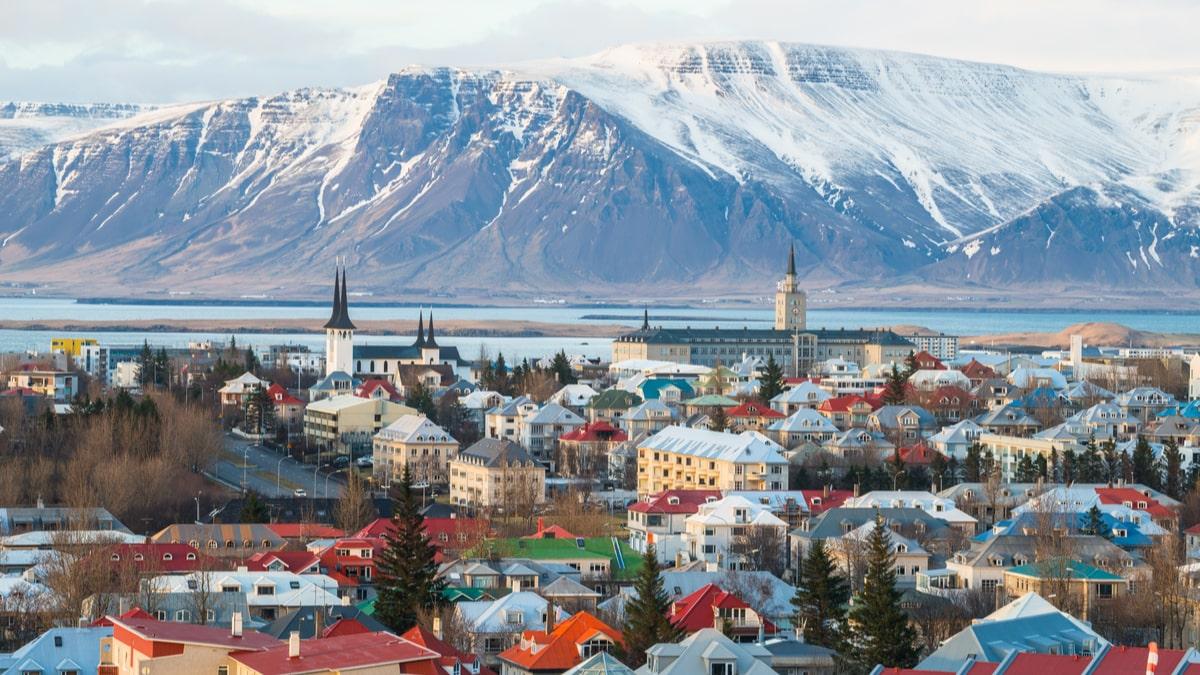 Shot of the Icelandic capital of Reykjavik