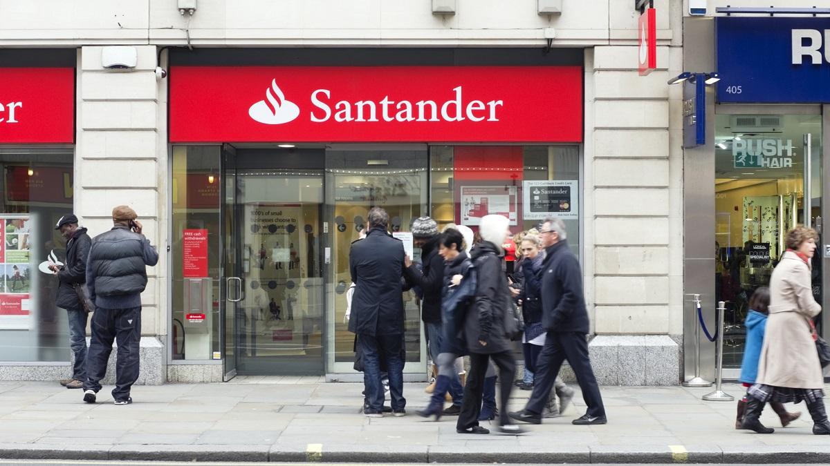 Santander bank, Central London