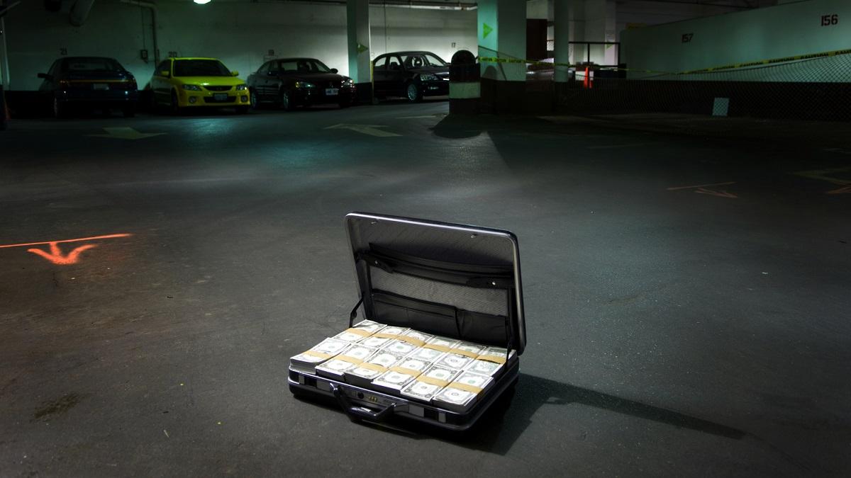 Open Suitcase Full of Money