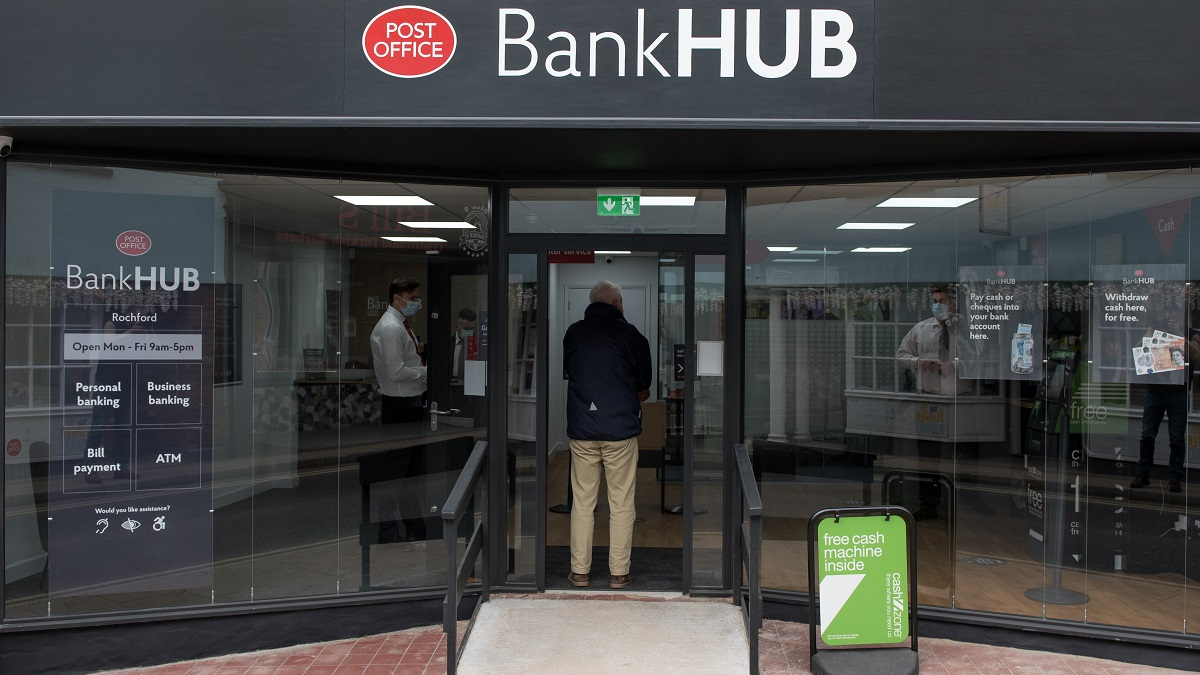 One of Community Access to Cash's pilot banking hubs in Rochford in April this year