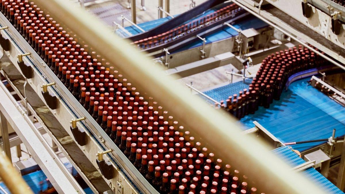 Budweiser bottle production line
